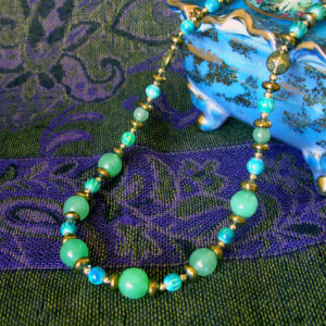 Green Apple Jade Jamba necklace