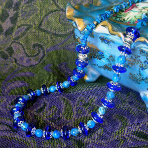 Lapis & Evening in Paris Blue necklace
