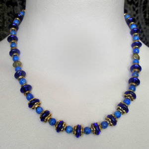 Gold & Blue Lapis necklace