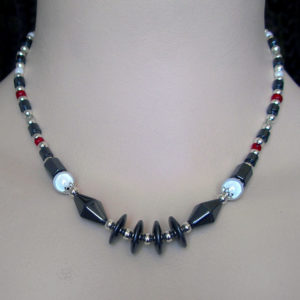 Geometric Hematite necklace