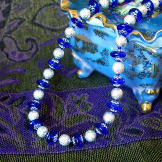 Blue & Silver Shimmery Stardust necklace