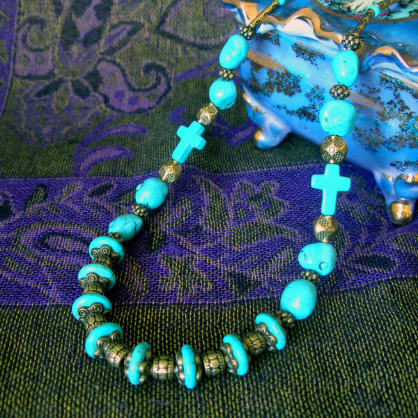 Cross of Turquoise necklace