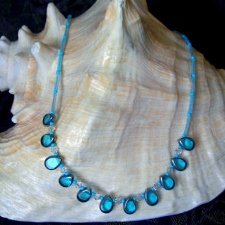 Aqua Vintage Teardrop necklace