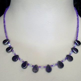 Purple Vintage Teardrop necklace
