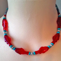 Red Fish necklace