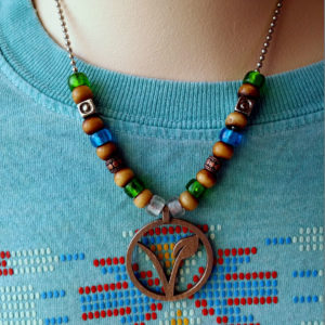Veggie Pendant Bead Mashup necklace