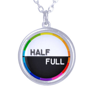 Half Full Silver-plated Pendant
